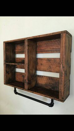 rustic Bathroom shelf FIRE TREATED with by thestandardcollectiv