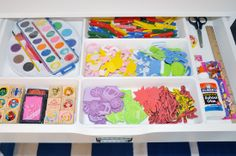 IHeart Organizing: Reader Space: Painting a Place to Play Craft Drawers