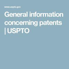 General information concerning patents   USPTO