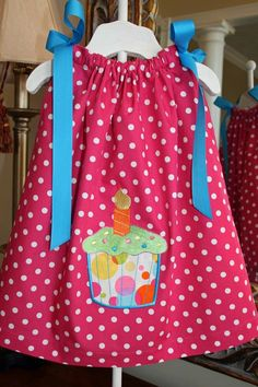 Baby's 1st Birthday Dress BRIGHT by pinkprincesscouture on Etsy, $30.00