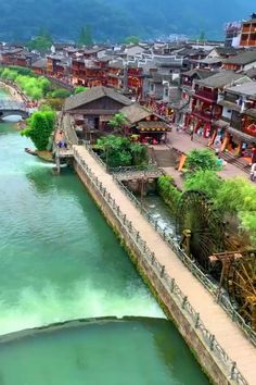 """This episode of """"Ancient Charm of China"""" takes you to an extraordinarily well-preserved ancient town in central China's Hunan Province, praised as """"the most beautiful town in China"""" by New Zealand-born writer Rewi Alley. Beautiful Photos Of Nature, Beautiful Places To Travel, Wonderful Places, Cool Places To Visit, Places To Go, Dream Vacations, Vacation Spots, Vacation Places, Travel Around The World"""