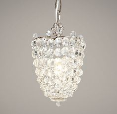 Master bath – Chantilly Crystal Pendant | Chandeliers | Restoration Hardware Baby & Child