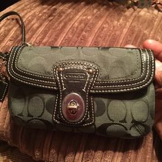 Coach wristlets Coach Wristlets .. Green .. New without tag Bags Clutches & Wristlets