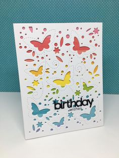 I Purchased The New Birch Press Butterfly Garden Trio Of Full Card Die Plates Recently Had This Set Dies In My Simon Shopping Car