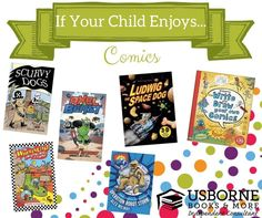 Have a superhero at home that loves comic books ? Check out these books from Usborne Books and More !