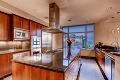 This a chef's kitchen can be found inside a 10th floor a top the The Residences at 2211 Camelback and asking $2,300,000