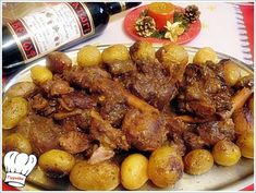 Greek Wild Boar Katsarola (in a Pot) with Whiskey & Molasses Greek Recipes, Meat Recipes, Cooking Recipes, Wild Boar Recipes, Grilled Carrots, Greek Cooking, Meat Lovers, Chicken Wings, Food And Drink