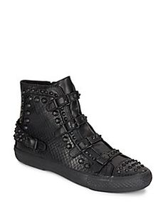 ASH Venom Studded Leather Sneakers. #ash #shoes #sneakers
