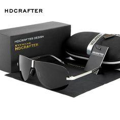 5db3cd7d931 More hot sunglasses  HDCRAFTER Brand Designer Sunglasses Men 2017 Polarized  Driving Sun Glasses for Male Accessories Cool oculos de sol masculino  Package ...