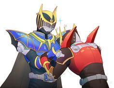 Power Rangers, Kamen Rider Ryuki, Dragon Knight, Anime Crossover, Bat Family, Clone Wars, Sendai, Animation, Fan Art