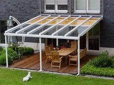 Pergola For Small Patio Corner Pergola, Pergola With Roof, Outdoor Pergola, Patio Roof, Diy Pergola, Pergola Kits, Backyard Patio, Outdoor Spaces, Outdoor Living
