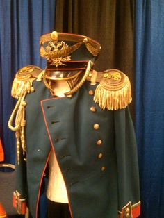 An Imperial Russian officer's uniform and shako from the late 1890s.