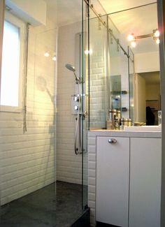 Surface de 3.8 m² : le plan d\'une petite salle de bains avec ...