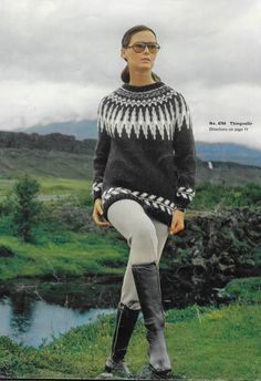 Instant Download PDF Vintage Patterns Icelandic by RosesandBees Icelandic Sweaters, Knit Sweaters, Fair Isle Knitting Patterns, Knitting Ideas, Norwegian Knitting, Nordic Sweater, Knit Basket, Outdoor Fashion, Knitting Accessories