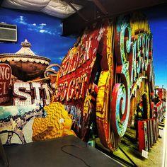 Custom Wallpaper of Las Vegas Neon Boneyard @Ion Art