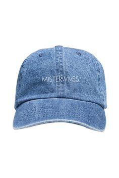 bd44533e Text Logo Low Profile Hat (Denim) Denim Baseball Cap, Baseball Hats, Light