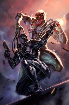 Anti Venom Marvel, Spiderman Venom, Spiderman Art, Amazing Spiderman, Marvel Vs, Marvel Heroes, Marvel Characters, Marvel Villains, Venom Comics