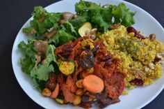All those lycopene rich tomatoes, sprouted chickpeas, dried fruit and vegetables in this raw vegan dish are married together by traditional flavors of cumin, turmeric, cinnamon and lemon.