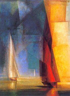 Lyonel Feininger, Día tranquilo en el mar III, 1929. Óleo sobre lienzo