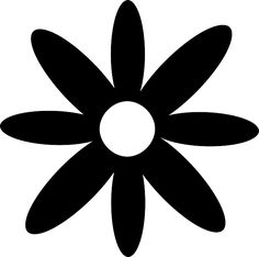 Simple, Silhouette, Flower, Spring, Summer, Daisy -- free vector images