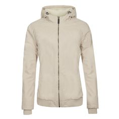 When you're looking for warmth, the Bakola women's cream bomber jacket has your name on it. This jacket has a cozy interior inside its tough and resistant exterior. The sheepskin imitation in the hood