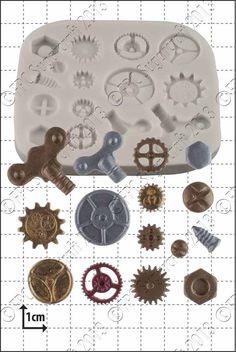 Create edible Steampunk Cogs and Gears with this silicone mould by FPC from The Vanilla Valley