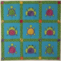 Turtles and Frogs Quilt by Michelle Wilcox & Fran Morgan through Fabric Cafe