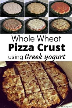 This whole wheat pizza crust recipe rises beautifully without yeast and makes a delicious, healthy base to your homemade pizzas. Pizza Dough Whole Wheat, Whole Wheat Pizza Crust Recipe, Healthy Crockpot Recipes, Real Food Recipes, Cooking Recipes, Healthy Meals, Crockpot Meals, Pizza Recipes, Quick Meals
