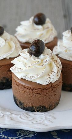 Mini Kahlua Cheesecakes...