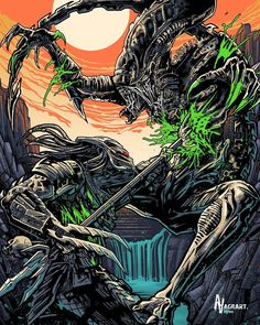 Predator Tattoo, Predator Alien, Alien Isolation, Science Fiction, Fiction Movies, Augmented Reality, Marines, Marvel Comics, Spiderman