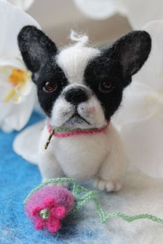 Needle Felted French Bulldog Puppy