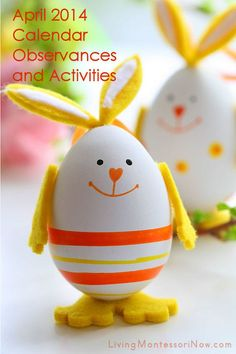 LOTS of ideas for calendar observances and Montessori-inspired activities throughout April