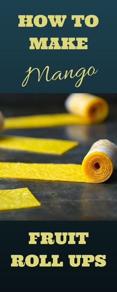 How to make mango fruit roll ups. Could be substituted with any other tropical fruit. Great Caribbean Snack!