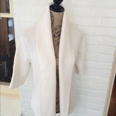 💐Summer BOGO  SALE💐 Gap heavy weight cardigan Off white Gap heavy weight sweater!   Looks awesome with a colorful cami, jeans and boots!! Enjoy Poshers.  🌟Sale🌟 Buy One items and get 2nd item of equal or less value at  50% off! 🌟🌟 GAP Sweaters Cardigans