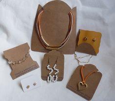 Quanto mais exclusivo, melhor! Embalagens e tag para bijuterias e semi-jóias em kraft ou estampas. #fonsecagarandistyle #embalagemespecial #embalandocomestilo #handmade