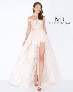 12376d63b80a 2018 Mac Duggal Prom Rompers with Overskirt