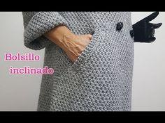 Bolsillo inclinado para abrigo lado derecho, 5º paso delantero - YouTube Training Collar, Knitting For Kids, Knit Fashion, Mantel, Knitwear, Knit Crochet, Tote Bag, Stitch, Sewing