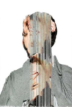 Creative Glitch, Inspiration, Board, Design, and Graphic image ideas & inspiration on Designspiration Collage Kunst, Collage Art, Collage Portrait, Man Portrait, Glitch Art, Photomontage, Art Perdu, Centre Des Arts, Ernesto Artillo