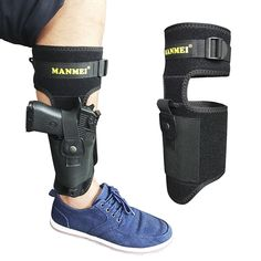 660009a718 Amazon.com   UPGRADED Ankle Gun Holster Leg Concealed Carry Tactical Pistol  Handgun Magazine Pouch