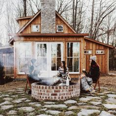 """""""Cabin, campfire, sunset, friends, champagne. I'll be dreaming about this beauty for a LONG time. I realized on a new level how life giving and crucial it…"""""""