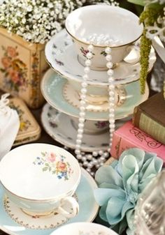 Tea cup display/decor.