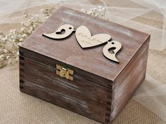 Lovebirds Wedding Box Lovebirds Ring Bearer by forlovepolkadots