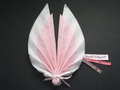 Pliage serviette Ange Rose Blanc