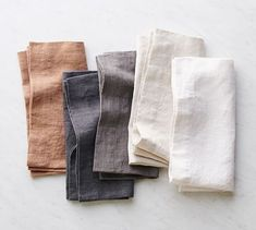 Dress up your table with the luxe, textural feel of our linen Mason Oversized Napkins. Available in versatile solid colors and detailed with a wide hem, they complement both modern and traditional settings. Linen Tablecloth, Linen Napkins, Table Linens, Pottery Barn, Sewing Mitered Corners, Cloth Napkins Bulk, Napkins Set, Skandinavisch Modern, Custom Napkins