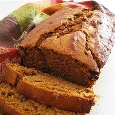 I have extra bananas and pumpkin. This looks like a low fat yummy bread! from Banana Pumpkin Bread Allrecipes.com