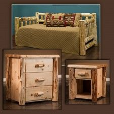 Cedar Lake Frontier Bedroom Package with Rustic Daybed