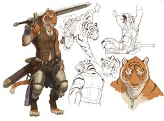 Character Design Tiger Warrior @Pixelsmithstwit
