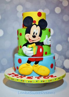 Mickey Mouse birthday cake.  by LenkaSweetDreams