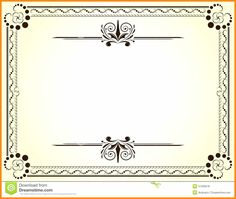 10 Blank Stock Certificates Engraved Cotton Content