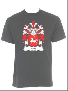 Araz Coat of Arms / Family Crest black t-shirt $22.99